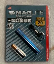 Maglite K3A116 Blue Solitaire Incandescent AAA Cell Flashlight