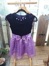 Stunning girls Jona Michelle Purple Velvet Party Dress Age 7 Years