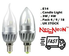 E14 LED Candle Light Bulbs 3W/4W Pack of 4 / 9 / 18  *UK Stock* Free Shipping