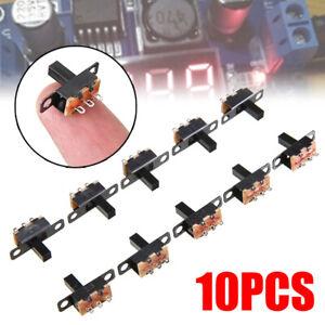10pcs Black SPDT ON-Off Miniature Slide Switch Power Electronic Component DIY -*