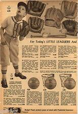 1958 ADVERT Hoot Evers Lou Boudreau Warren Spahn Baseball Glove Wilson B Tuttle