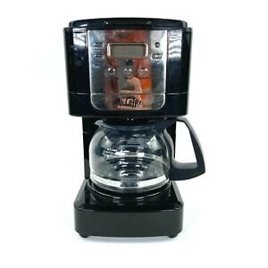 Mr. Coffee Advanced Brew 5 Cup Programmable Coffee Maker Black/Chrome Coffee