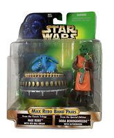 Star Wars POTF Max Rebo Band Pairs Max Rebo and Doda Bodonawieedo 1998 NEW