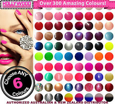 ANY 6 Bluesky SoakOff UV/LED Nail Gel Polish + Removal Wraps~Over 300 Colours!