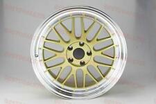 "LM STYLE WHEELS 19"" GOLD STAGGERED RIMS FITS LEXUS ES IS300 CAMRY G35 TL TSX TLS"