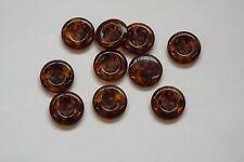 10pc 15mm dark brown faux ambre pantalon cardigan knitwear kid baby bouton 0880