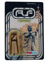 Vintage 1977 Star Wars Tuskan Raider Figure On Custom Made Card Back