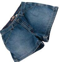Old Navy Womens Boyfriend Light Wash 100% Cotton Blue Denim Jean Shorts Sz 12