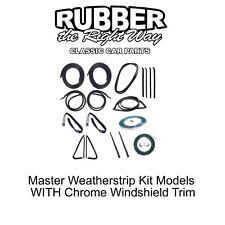 1978 - 1980 Chevy & GMC Truck Master Weatherstrip Kit - WITH Windshield Trim
