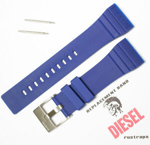 Genuine DIESEL blue plastic watch band for DZ7098