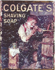 COLGATE SHAVING SOAP BATHROOM  METAL WALL SIGN RETRO STYLE 12x16in 30X40cm