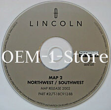 2003 LINCOLN NAVIGATOR SPORT NAVIGATION MAP NAV DISC CD 2 NORTHWEST SW AZ CO MT