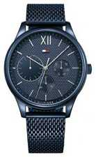 Tommy Hilfiger Mens Damon blue Mesh Strap blue dial 1791421 Watch