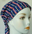 Cancer Hat Chemo Cap Head Wrap Hair Loss Scarf Turban Red White Blue Patriotic