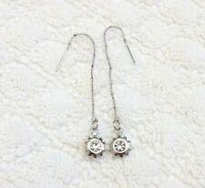 Crystal Rhinestone Star Polygon Shape Dangle Threader earrings