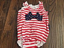 Toffee Apple Baby Toddler NWT Girl Red White & Blue One-Piece Jumpsuit Size 12M