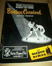 NORFOLK,VA.1954 BOXING CARNIVAL.7th ANNUAL MARCH OF DIMES PROGRAM