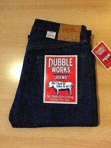 DUBBLEWORKS by Warehouse Made in Japan Men's Selvedge Jeans 332-OW Slim Fit BNWT