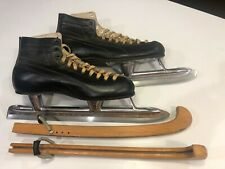 Vintage Planert Northlight Speed Skates with Wood Blade Covers Size 8