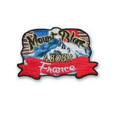 Mont Blanc Patch Embroidered Iron/Sew on Badge Souvenir Mount Climb Trek France