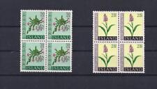 Iceland 1968 Alphine Flowers V/Fine MNH Blocks 4 Scarce Classic Set