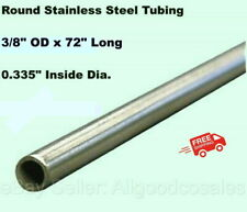 Round Tubing 304 Stainless Steel 38 Od X 6 Ft Welded 0335 Inside Dia
