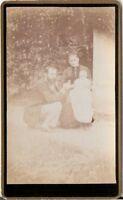 CDV Foto Schönes Familienbild - Frankreich 1890er