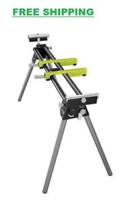 Stationary Miter Saw Stand W Height Adjustment Quick Release Mounting Brackets