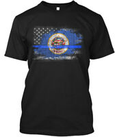 Minnesota Thin Blue Line Flag Hanes Tagless Tee T-Shirt