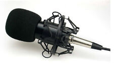 Professional Large Diaphragm Studio Condenser Recording Microphone - Black