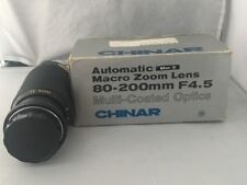 Chinar Automatic Macro Zoom Lens 80-200mm F4.5 For Nikon AI Cameras- New in Box