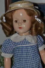 "EFFANBEE ANNE SHIRLEY 21"" TALL FROM 1939-49 ALL COMPOSITION DOLL MARKED ON BACK"