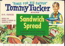 Label-TOMMY TUCKER sandwich spread,Thomas & Howard,NC.original= ProductsOverTime