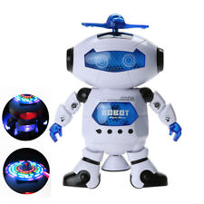 Smart Space Dance Robot Electronic Walking Toys + Music Light Nice Gift for Kids