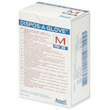 Ansell Dispos-A-Glove, Powder Free Examination Gloves, Medium, Box of 30