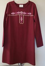 Brand New ~ Hanna Andersson Russet Screen Print Dress ~ Girl's 110/ 4-6 year