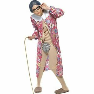 Gravity Granny Costume, Patterned, with Dressing Gown & Bodysuit -  COST-UNI NEW