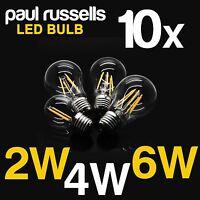 B22 BC ES E27 Vintage Globe Bulbs Clear Warm LED Filament Light Lamp 2W 4W 6W
