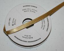 "Stampin Up Retired GOLD SHIMMER Ribbon 6.5 yards 1/4"" RARE HTF"