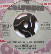 "LARRY GATLIN - All The Gold In California - Ex Con 7"" Single Columbia 13-02168"