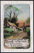 With Good Wishes For The New Year - Vintage Wildt & Kray Postcard