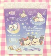 KAMIO JAPAN / Disney Tsum Tsum Mickey Minnie Chip Dale Mini Memo Pad