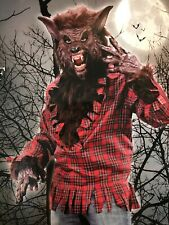 """Spirit Halloween Adult Mens One Size Fits Most """"Werewolf"""" Fits Up To 6' 200 Lbs"""