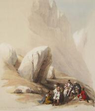 David ROBERTS Louis HAGUE Rocher de Moïse Mont Horeb lithographie Sinaï Égypte