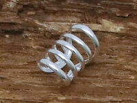 Kleine Ohrklemme 5 Ringe 925 Sterling Silber 1 Stück Ohrclip Ohrschmuck