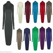 Polo Neck/Roll Neck Stretch Dresses for Women