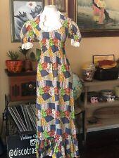 New listing Vintage 1960's Prairie Dress Maxi Dress Patchwork Print