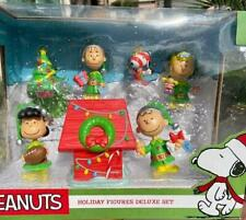 7P Peanuts Charlie Brown Snoopy Doghouse Lucy Football Sally Linus Figures Decor