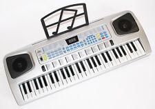 54 Teclas Niños Piano con micrófono, Fuente de alimentación, Atril música