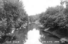 Sac City Iowa Coon River Real Photo Antique Postcard K88619